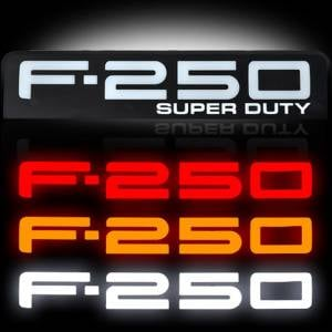RECON F-250 Illuminated Fender Emblems Red, White, & Amber w/Black Housing | 2008-2010 Ford F-250 SUPERDUTY | Dale's Super Store