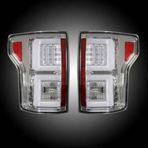 RECON CLEAR LED Tail Lights | 2015-2017 Ford F150 | 264268CL | Dale's Super Store