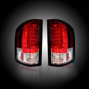 RECON Red LED Tail Lights | 2007-2014 Chevy Silverado Dually & GMC Sierra Dually | 264291RD | Dale's Super Store