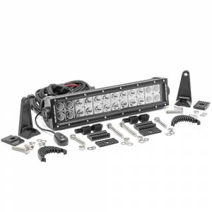 Rough Country 12-inch Dual Row Cree LED Light Bar (Black Series) | Dale's Super Store