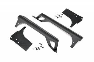 Rough Country 50-Inch Straight LED Light Bar Upper Windshield Mounts | 1997-2006 Jeep Wrangler TJ | Dale's Super Store