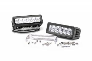 Rough Country 6-Inch Adjustable Base Mount Cree LED Light Bars | Pair | Dale's Super Store