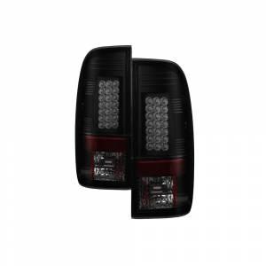 Spyder® Black Smoke LED Tail Lights   2008-2016 Ford Super Duty   Dale's Super Store