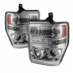 Spyder Chrome CCFL Halo Projector LED Headlights | 2008-2010 Ford Super Duty | Dale's Super Store