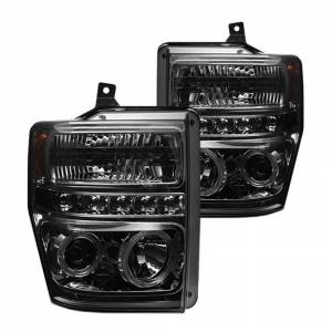 Spyder Smoke Halo Projector LED Headlights | 2008-2010 Ford Super Duty | Dale's Super Store