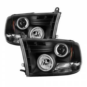 Spyder Black CCFL Halo Projector LED Headlights | 2009-2016 Dodge Ram | Dale's Super Store