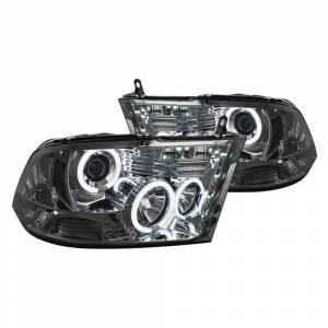 Spyder Smoke CCFL Halo Projector LED Headlights   2009-2016 Dodge Ram   Dale's Super Store