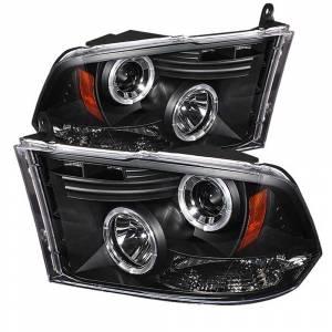 Spyder Black Halo Projector LED Headlights | 2009-2016 Dodge Ram | Dale's Super Store