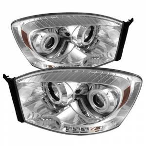 Spyder Chrome CCFL Halo Projector LED Headlights | 2006-2009 Dodge Ram | Dale's Super Store