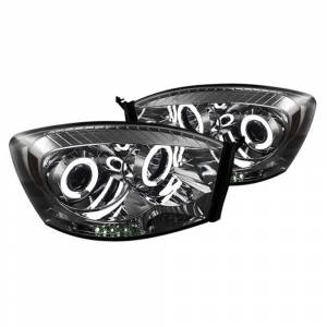 Spyder Chrome/Smoke CCFL Halo Projector LED Headlights | 2006-2009 Dodge Ram | Dale's Super Store