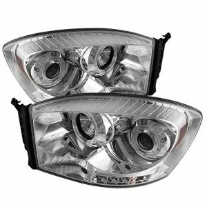 Spyder Chrome Halo Projector LED Headlights | 2006-2009 Dodge Ram | Dale's Super Store