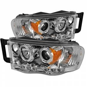 Spyder Chrome Halo Projector LED Headlights | 2002-2005 Dodge Ram | Dale's Super Store