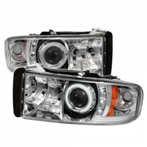 Spyder Chrome CCFL Halo Projector LED Headlights | 1994-2002 Dodge Ram | Dale's Super Store