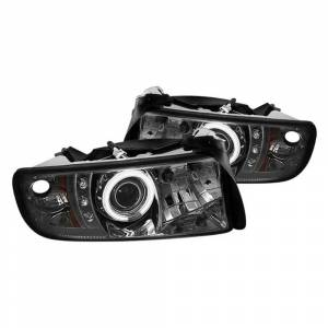 Spyder Chrome/Smoke CCFL Halo Projector LED Headlights | 1994-2002 Dodge Ram | Dale's Super Store