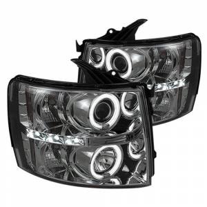 Spyder Smoke CCFL Halo Projector LED Headlights | 2007-2014 Chevy Silverado | Dale's Super Store