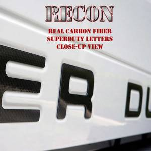 "RECON ""SUPERDUTY"" Carbon Fiber Raised Letter Inserts 