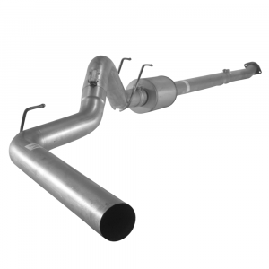 "Flo~Pro 4"" Stainless Steel Downpipe Back w/Muffler 