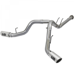 """aFe Power Large Bore HD 4"""" Stainless DPF-Back w/Polished Tips 