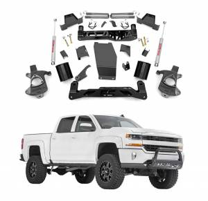 Rough Country - Rough Country 7 In Suspension Lift Kit & Knuckle Kit for 2014-2015 Chevy Silverado 1500 4WD & GMC Sierra 1500 4WD