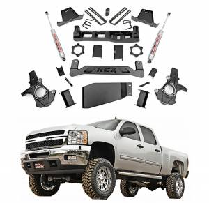 Rough Country - Rough Country 6 In Suspension Lift Kit for 2007-2013 GM 1500 P/U 4WD