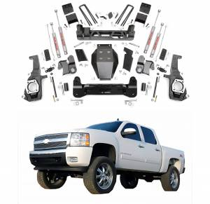 Rough Country - Rough Country 7.5 In Non-Torsion Drop Suspension Lift Kit for 2011-2018 Sierra/Silverado 2500HD/3500HD