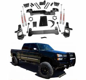 Rough Country - Rough Country 6 In Suspension Lift Kit for 2001-2010 GM 2500HD 4WD