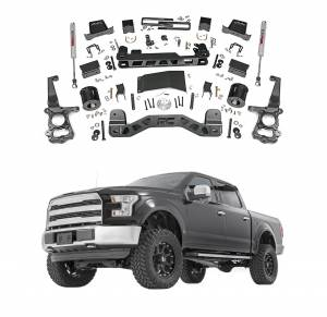 Rough Country - Rough Country 6 In Suspension Lift Kit for 2015-2018 Ford F150 4WD
