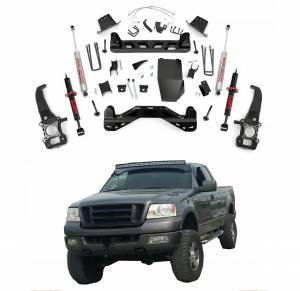 Rough Country - Rough Country 6in Suspension Lift Kit with Lifted Front Struts for 2004-2008 Ford F150 4WD