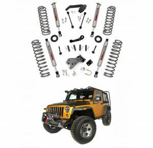 Rough Country - Rough Country 4 In Suspension Lift Kit for 2007-2017 Jeep Wrangler JK Unlimited