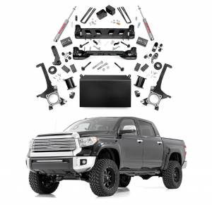 Rough Country - Rough Country 6 In Suspension Lift Kit for 2007-2015 Toyota Tundra 4WD/2WD