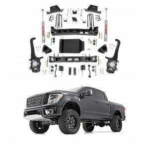 Rough Country - Rough Country 6in Suspension Lift Kit with Lifted Front Struts for 2004-2015 Nissan Titan