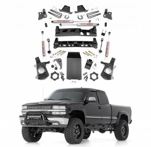 Rough Country - Rough Country 6 In Non-Torsion Drop Suspension Lift Kit for 1999-2006 GM 1500 P/U 4WD