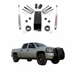 Rough Country - Rough Country 3.5 In Suspension Lift Kit with Premium Shocks for 2007-2013 GM 1500 P/U 4WD