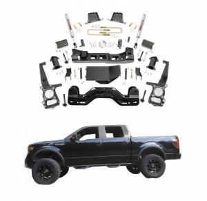 Rough Country - Rough Country 6 In Suspension Lift Kit for Ford 2011-2013 F-150 4WD