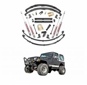 Rough Country - Rough Country 4 In Suspension Lift Kit for 1987-1995 Jeep Wrangler YJ 4WD