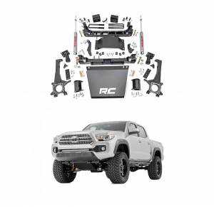 Rough Country - Rough Country 6in Suspension Lift Kit | 2005-2015 Toyota Tacoma 4WD