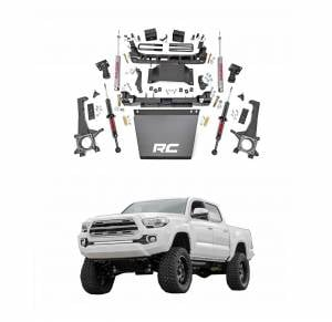 Rough Country - Rough Country 6in Suspension Lift Kit with Lifted Front Struts for 2005-2015 Toyota Tacoma 4WD