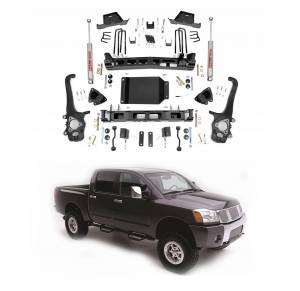 Rough Country - Rough Country 6 In Suspension Lift Kit for 2004-2015 Nissan Titan
