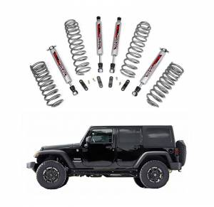 Rough Country - Rough Country 2.5 In Suspension Lift Kit with Performance Shocks for 2007-2017 Jeep Wrangler JK Unlimited