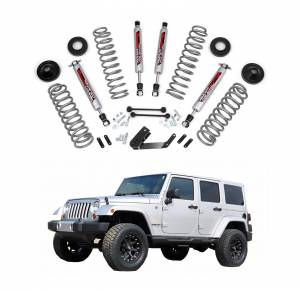 Rough Country - Rough Country 3.25 In Suspension Lift Kit with Performance Shocks for 2007-2017 Jeep Wrangler JK Unlimited