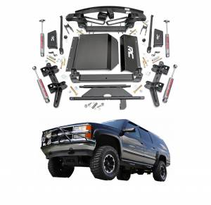 Rough Country 6 In Suspension Lift Kit for Chevy 92-94 Blazer 4WD, 95-99 Tahoe 4WD, & 00-00 Tahoe (Z71 Models) 4WD | GMC: 92-99 Yukon 4WD | Chevrolet/GMC: 88-98 1500 Pickup 4WD & 92-99 1500 Suburban 4WD