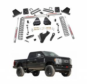 Rough Country 6 Inch Suspension Lift Kit w/Factory Rear Overload Springs | 2017 6.7L Ford Powerstroke F250 4WD