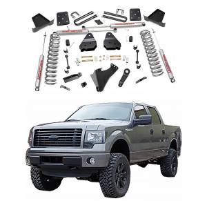 Rough Country 4.5 In Suspension Lift Kit for 2017 6.7L Ford Powerstroke F250/F350 4WD | Dale's Super Store