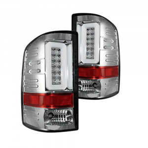 RECON Clear LED Tail Lights | 2014-2017 GMC Sierra Single-Wheel | Dale's Super Store