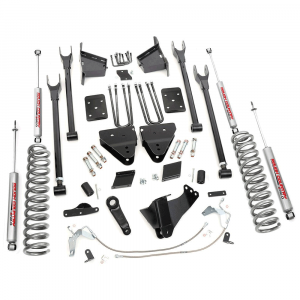 Rough Country 6 In 4-Link Suspension Lift Kit for 2011-2014 Ford Powerstroke F250 4WD | Dale's Super Store