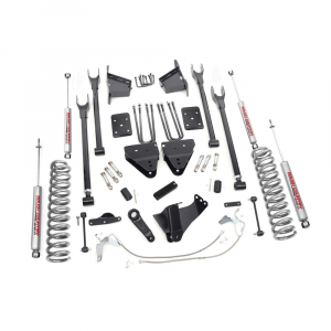 Rough Country 8in 4-Link Suspension Lift Kit | 2008-2010 6.7L Ford Powerstroke F-250/F-350 4WD | Dale's Super Store