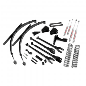 Rough Country 8in 4-Link Suspension Lift System | 2005-2007 6.0L Ford Powerstroke F-250/F-350 4WD | Dale's Super Store