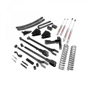 Rough Country 6in 4-Link Suspension Lift Kit | 2005-2007 6.0L Ford Powerstroke F-250/F-350 4WD w/Overloads | Dale's Super Store