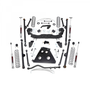 Rough Country 4in Long Arm Suspension Lift Kit | 2012-2018 Jeep Wrangler JK (2 Door Only) | Dale's Super Store