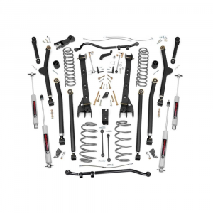 Rough Country 4in Long Arm Suspension Lift Kit   1997-2006 Jeep Wrangler TJ 4WD   Dale's Super Store